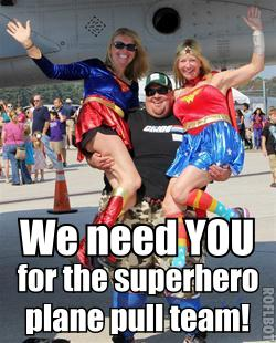 Put on your cape and help us pull a plane! Register pull.ask-gina.com