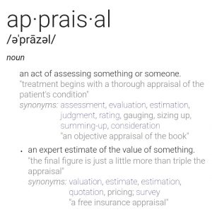 The definition of apprasail